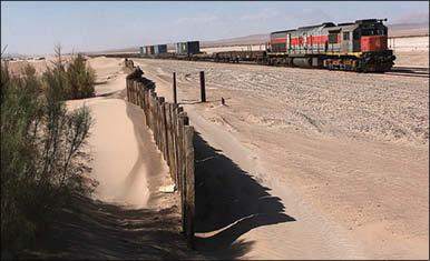 احداث کمربند سبز حفاظتی در مناطق ماسه گیر راه آهن شرق