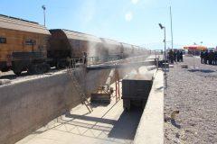 ازسرگیری عملیات تخلیه گندم در ایستگاه کرمان