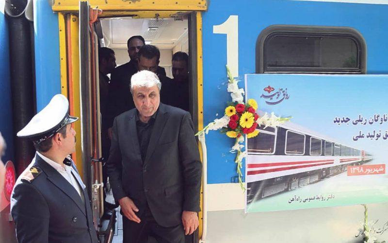 مراسم بهره برداری از ۲۱۳ دستگاه انواع واگن باری و مسافری و لکوموتیو تولید ملی