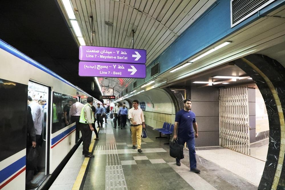 آمار مسافران روزانه خط هفت متروی تهران از پنجاه هزار نفر عبور کرد