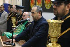 آئین بدرقه کاروان زائران اربعین حسینی در ایستگاه راه آهن قم برگزار شد