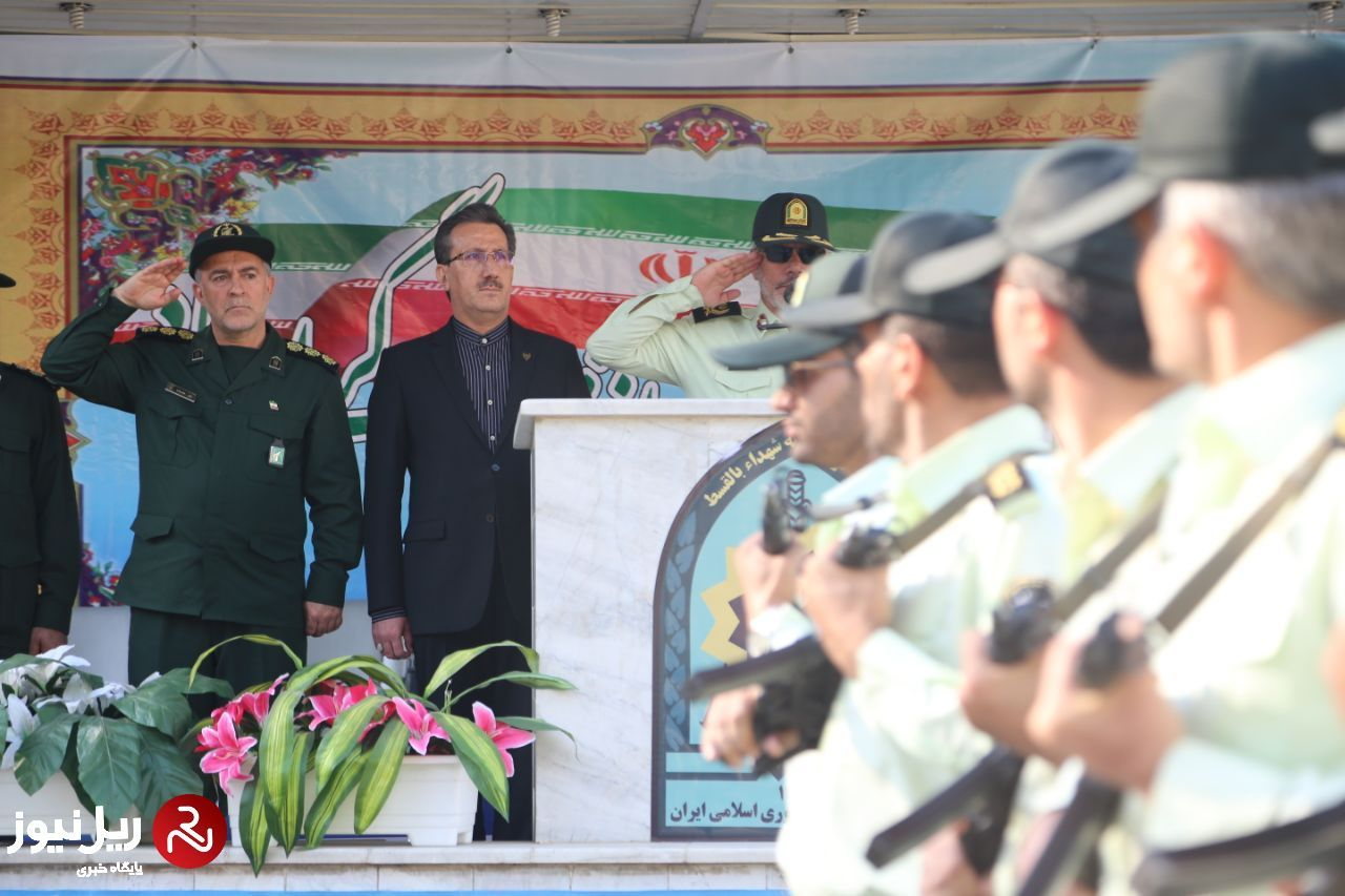 صبحگاه مشترک به مناسبت هفته نیروی انتظامی در مرکز پلیس راه آهن کشور برگزار شد