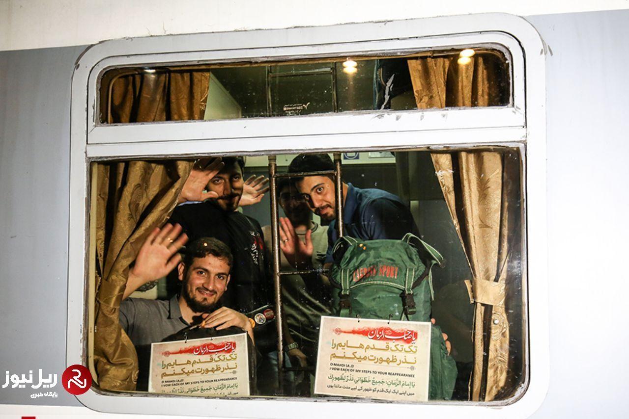 گزارش تصویری/ دومین رام قطار اربعین اصفهان را به مقصد کرمانشاه ترک کرد