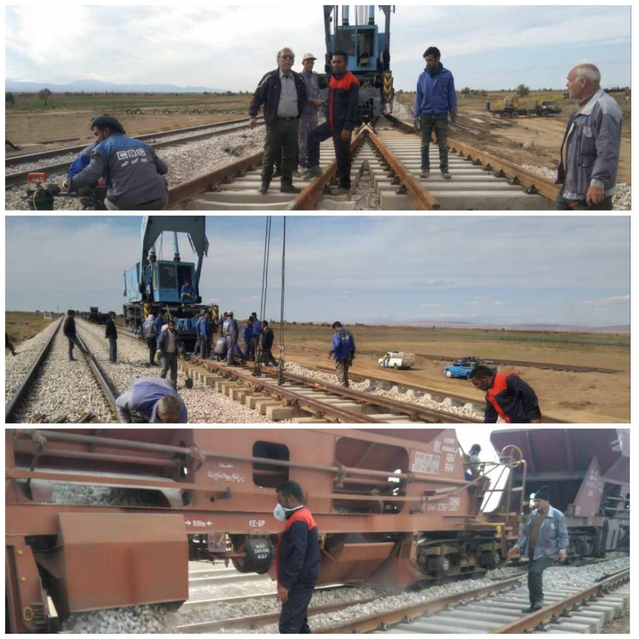 آغاز عملیات نصب ۱۶۰ دستگاه سوزن بتنی در اداره کل راه آهن خراسان