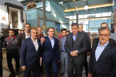 بازدید وزیر راه و مدیر عامل راه آهن از کارخانه جات تعمیرات اساسی واگن ها + گزارش تصویری