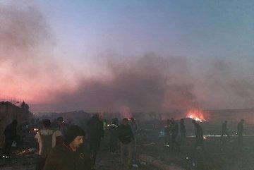 همه مسافران هواپیمای اوکراینی جان باختند