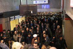 جابجایی ۹۰۰ هزار نفر از شهروندان و شرکت کنندگان در نمازجمعه توسط متروی تهران