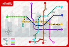 نقشه مترو تهران/ ایستگاههای فعال خطوط جدید مترو را بشناسید