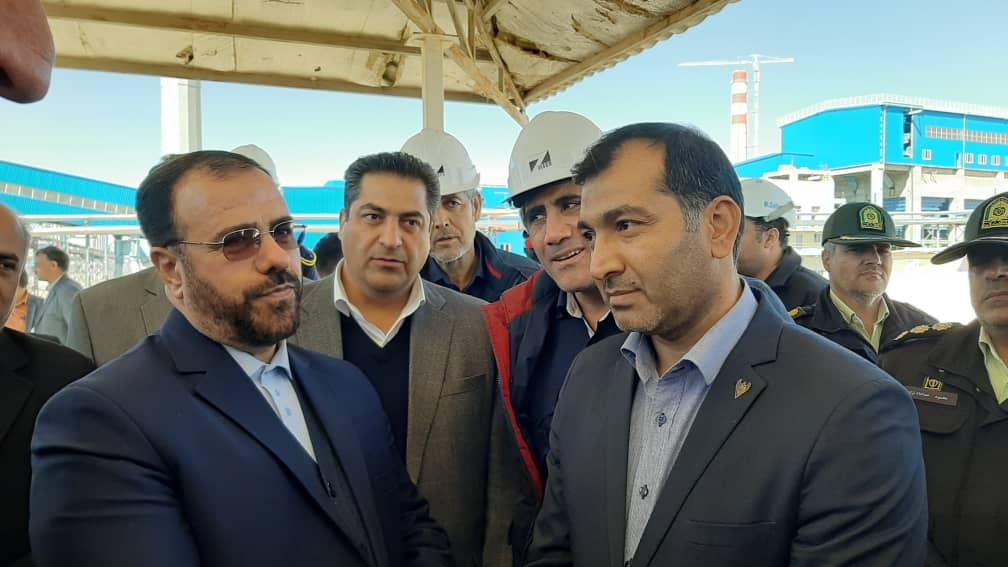 بازدید معاون پارلمانی رئیس جمهور از مجتمع  فولاد زرند ایرانیان و خط فرعی راه آهن