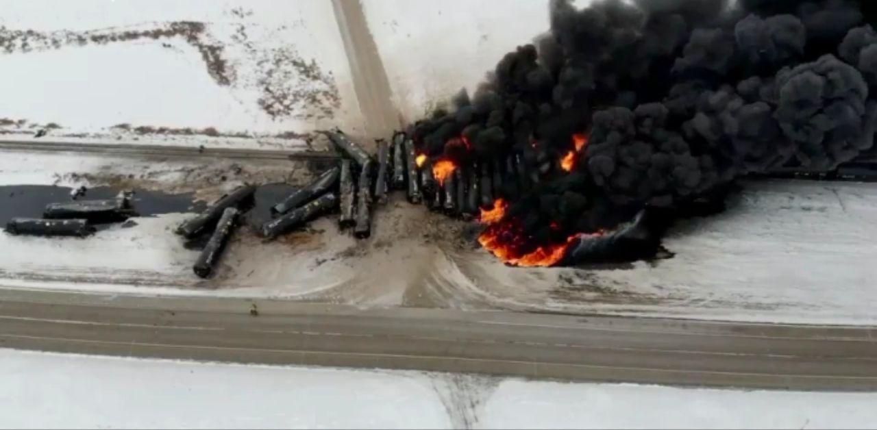 انفجار قطار حامل نفت در کانادا