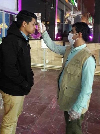 فعالیت شبانه روزی در غربالگری مسافران ورودی به ایستگاه راه آهن مشهد