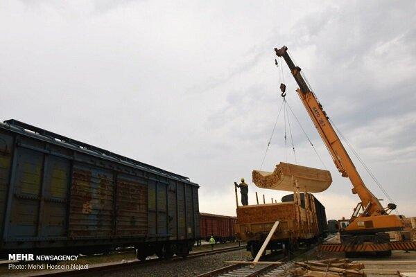 بارگیری بیش از ۸۷ هزار تن کالا در راه آهن شمال ۲
