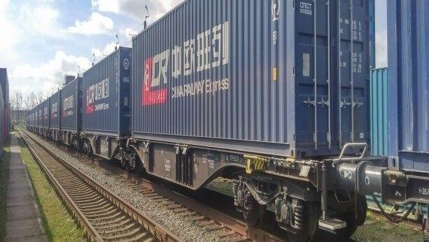صادرات کالا از پایانه ریلی آستارا افزایش یافت