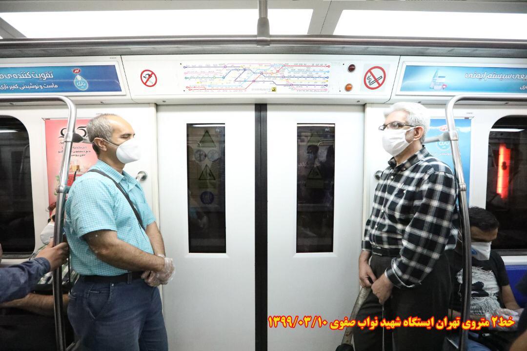 زدن ماسک در هنگام استفاده از مترو الزامی است