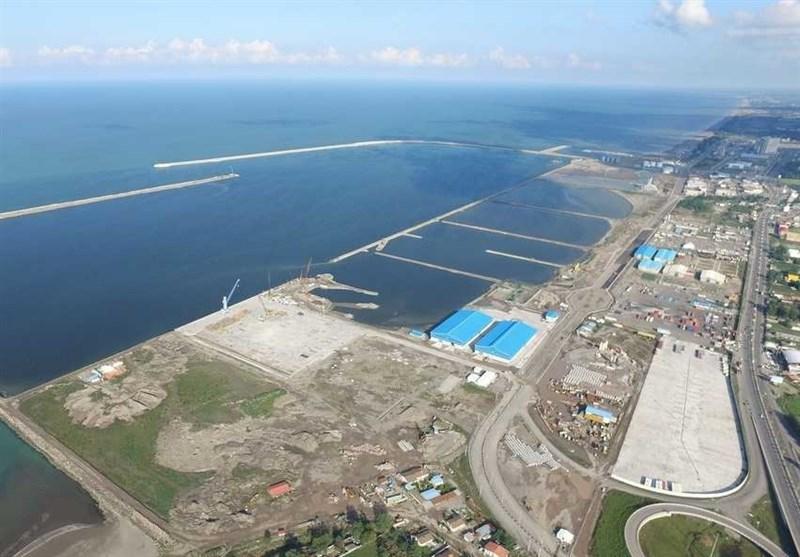 ۹۵ درصد واردات «بندر کاسپین» مواد اولیه واحدهای تولیدی کشور است