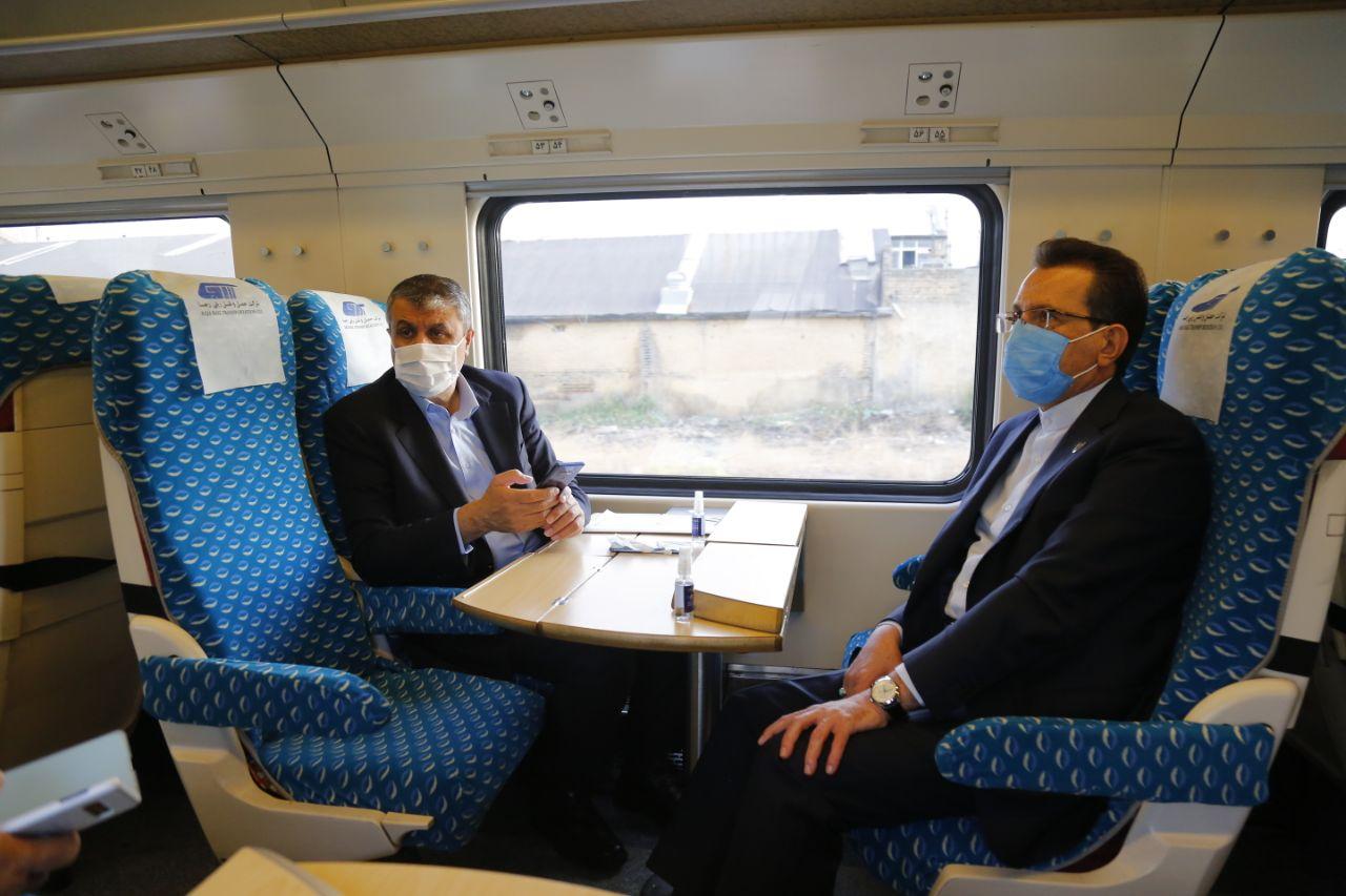 بازدید وزیر راه و شهرسازی به همراه مدیرعامل راه آهن از پروژه خط دوم راه آهن قزوین – زنجان