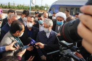 گزارش تصویری / بازدید نوبخت، معاون رئیس جمهور و رسولی، مدیرعامل راه آهن از پروژه خط دوم راه آهن قزوین – زنجان