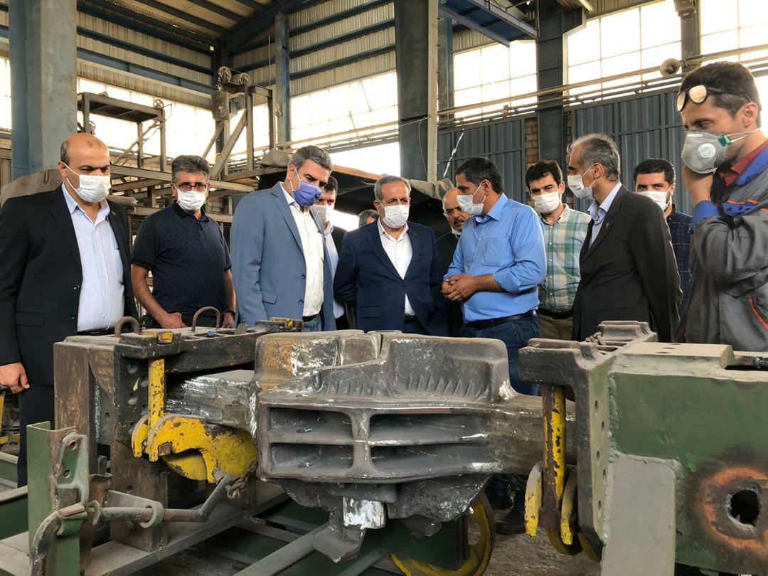 بازدید معاون ناوگان راه آهن از مراکز تولیدی ریلی کشور + گزارش تصویری