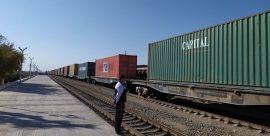 ورود اولین قطار باری از چین به ترکمنستان