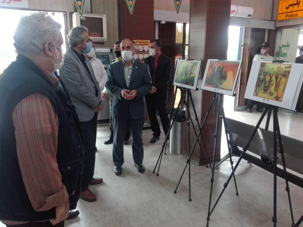 برپایی نمایشگاه آثار برگزیده نقاشان کشور با عنوان«طریق تجلی ۲» در ایستگاه راه آهن ساری