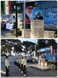 برگزاری صبحگاه مشترک پلیس راه آهن شمالشرق ۲