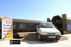ورود اولین واگن حمل خودرو به ایستگاه راهآهن همدان