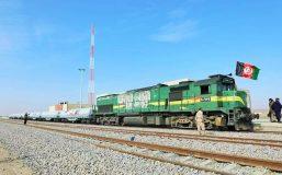 استقبال مقامات و بخش خصوصی افغانستان از خط آهن خواف-هرات