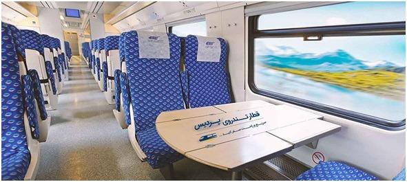 فاصله تهران مشهد با قطار سریع السیر